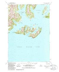 Topo map Seward D-1 Alaska