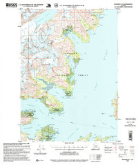 Topo map Seward D-4 Alaska