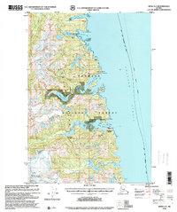 Topo map Sitka A-3 Alaska