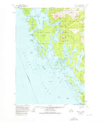 Topo map Sitka C-7 Alaska