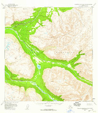 Topo map Talkeetna Mountains B-5 Alaska