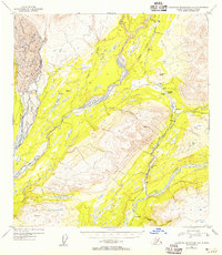 Topo map Talkeetna Mountains D-6 Alaska