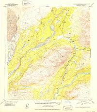 Topo map Talkeetna Mountains D-6 Alaska