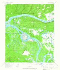 Topo map Tanana A-4 Alaska