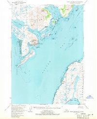 Topo map Trinity Islands D-1 Alaska