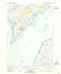 Topo map Trinity Islands D-1 Alaska
