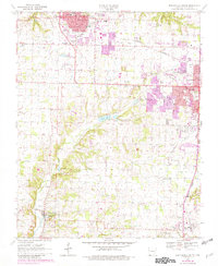 Download a high-resolution, GPS-compatible USGS topo map for Bentonville South, AR (1982 edition)