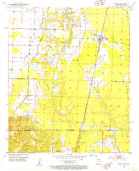 Download a high-resolution, GPS-compatible USGS topo map for Bradley, AR (1953 edition)