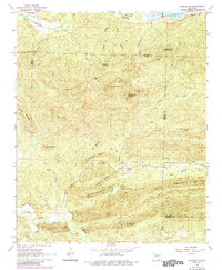 Download a high-resolution, GPS-compatible USGS topo map for Fourche SW, AR (1984 edition)