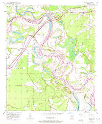 Download a high-resolution, GPS-compatible USGS topo map for Fulton, AR (1971 edition)
