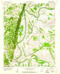 Download a high-resolution, GPS-compatible USGS topo map for Madison, AR (1960 edition)