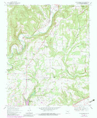 Download a high-resolution, GPS-compatible USGS topo map for Mountainburg SW, AR (1983 edition)