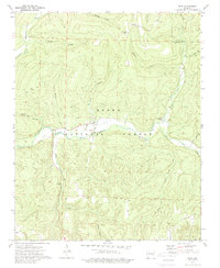 Download a high-resolution, GPS-compatible USGS topo map for Oark, AR (1989 edition)