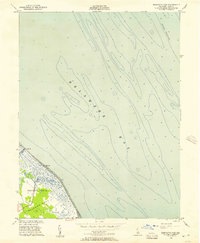 Download a high-resolution, GPS-compatible USGS topo map for Bennetts Pier, DE (1957 edition)