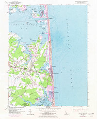 Download a high-resolution, GPS-compatible USGS topo map for Bethany Beach, DE (1973 edition)