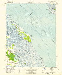 Download a high-resolution, GPS-compatible USGS topo map for Bombay Hook, DE (1956 edition)