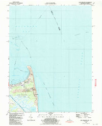 Download a high-resolution, GPS-compatible USGS topo map for Cape Henlopen, DE (1990 edition)