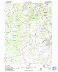 Download a high-resolution, GPS-compatible USGS topo map for Clayton, DE (1993 edition)