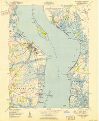 Download a high-resolution, GPS-compatible USGS topo map for Delaware City, DE (1951 edition)