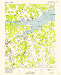 Download a high-resolution, GPS-compatible USGS topo map for Frankford, DE (1956 edition)