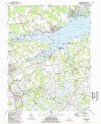Download a high-resolution, GPS-compatible USGS topo map for Frankford, DE (1984 edition)