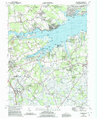 Download a high-resolution, GPS-compatible USGS topo map for Frankford, DE (1991 edition)
