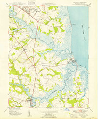 Download a high-resolution, GPS-compatible USGS topo map for Frederica, DE (1949 edition)