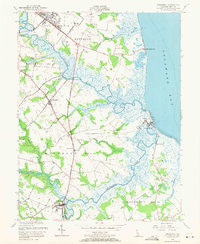 Download a high-resolution, GPS-compatible USGS topo map for Frederica, DE (1971 edition)