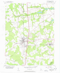 Download a high-resolution, GPS-compatible USGS topo map for Harrington, DE (1957 edition)