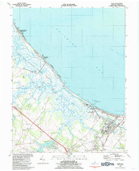 Download a high-resolution, GPS-compatible USGS topo map for Lewes, DE (1985 edition)