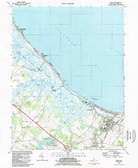 Download a high-resolution, GPS-compatible USGS topo map for Lewes, DE (1984 edition)