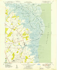 Download a high-resolution, GPS-compatible USGS topo map for Little Creek, DE (1949 edition)