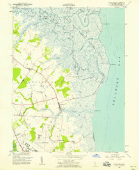 Download a high-resolution, GPS-compatible USGS topo map for Little Creek, DE (1958 edition)