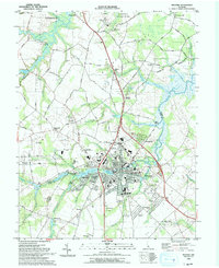 Download a high-resolution, GPS-compatible USGS topo map for Milford, DE (1993 edition)