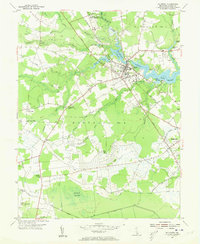 Download a high-resolution, GPS-compatible USGS topo map for Millsboro, DE (1955 edition)