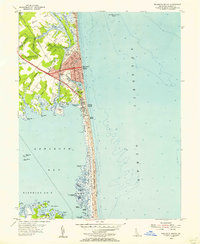 Download a high-resolution, GPS-compatible USGS topo map for Rehoboth Beach, DE (1956 edition)