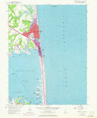 Download a high-resolution, GPS-compatible USGS topo map for Rehoboth Beach, DE (1972 edition)