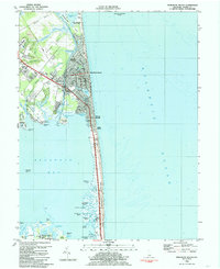 Download a high-resolution, GPS-compatible USGS topo map for Rehoboth Beach, DE (1985 edition)