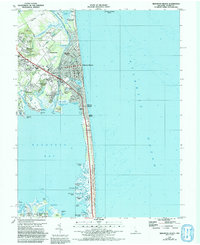 Download a high-resolution, GPS-compatible USGS topo map for Rehoboth Beach, DE (1992 edition)