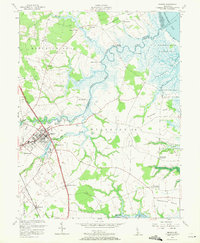Download a high-resolution, GPS-compatible USGS topo map for Smyrna, DE (1971 edition)