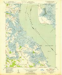 Download a high-resolution, GPS-compatible USGS topo map for Taylors Bridge, DE (1950 edition)