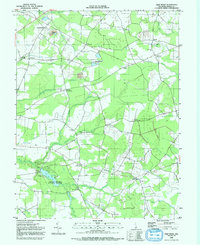 Download a high-resolution, GPS-compatible USGS topo map for Trap Pond, DE (1992 edition)