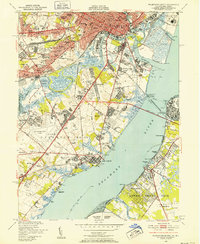 Download a high-resolution, GPS-compatible USGS topo map for Wilmington South, DE (1952 edition)