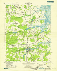 Download a high-resolution, GPS-compatible USGS topo map for Milton, DE (1944 edition)