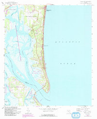 Download a high-resolution, GPS-compatible USGS topo map for Amelia City, FL (1992 edition)