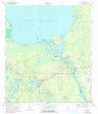 Download a high-resolution, GPS-compatible USGS topo map for Astor, FL (1990 edition)
