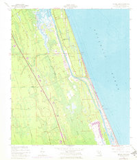 Download a high-resolution, GPS-compatible USGS topo map for Beverly Beach, FL (1972 edition)