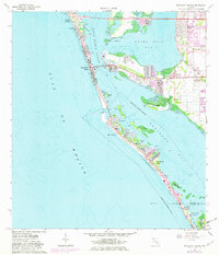 Download a high-resolution, GPS-compatible USGS topo map for Bradenton Beach, FL (1982 edition)
