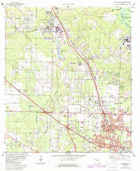 Download a high-resolution, GPS-compatible USGS topo map for Cantonment, FL (1987 edition)
