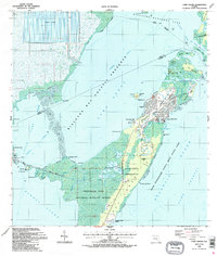 Download a high-resolution, GPS-compatible USGS topo map for Card Sound, FL (1988 edition)